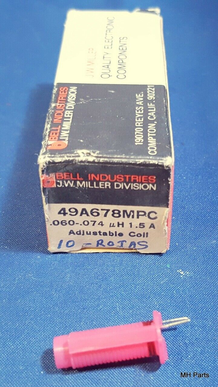 Acom 2100: 1 PCS Vintage J. W. Miller # 49A678MPC Adjustable Coil 1.5